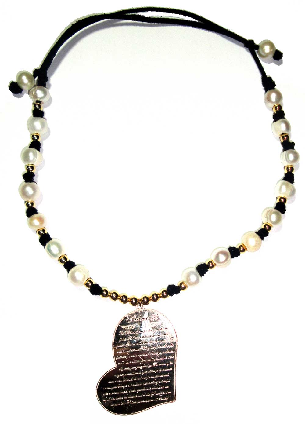 Fresh water Pearls accentuated by a gold Filled heart salmo23
